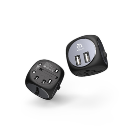 Adam Elements Adam Elements OMNIA TA502 travel adapter with Dual USB Black