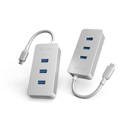 Adam Elements Adam Elements CASA Hub PDC601 6 Port USB-C to Card Reader (3 x USB/USB-C/SD/MicroSD) Silver (WSL)