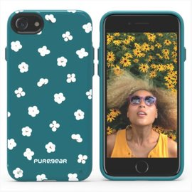 Pure Gear Pure Gear Motif Series Case for iPhone 7 Green/White Flowers