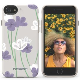 Pure Gear Pure Gear Motif Series Case for iPhone 7 Gray White/Purple Floral