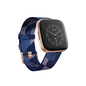 Fitbit Fitbit Versa 2 Fitness Smartwatch Special Edition - Copper Rose Aluminum w/ Navy/Pink Woven Band