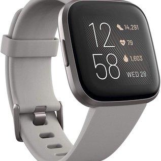 Fitbit Fitbit Versa 2 Fitness Smartwatch - Mist Grey Aluminum w/ Stone Band