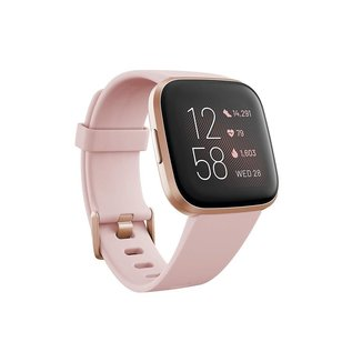 Fitbit Fitbit Versa 2 Fitness Smartwatch - Copper Rose Aluminum w/ Petal Band