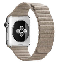 Apple Apple Watch Band 42mm Stone Leather Loop - Medium 150-185mm (WSL)