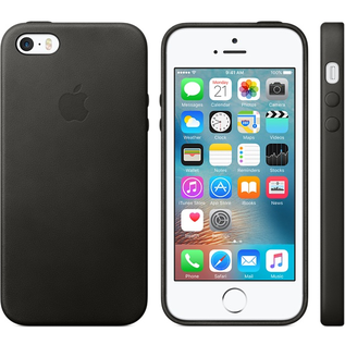 Apple Apple Leather Case for iPhone SE 1st gen/5s/5 - Black ALL SALES FINAL - NO RETURNS OR EXCHANGES