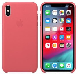 Apple Apple Leather Case for iPhone Xs Max - Peony Pink (WSL)