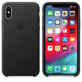 Apple Apple Leather Case for iPhone Xs - Black (WSL)
