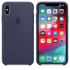Apple Apple Silicone Case for iPhone Xs Max - Midnight Blue (WSL)
