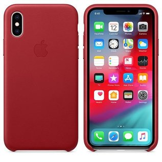 Apple Apple Leather Case for iPhone Xs - Product Red (While Supplies Last)