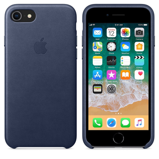 Apple Apple Leather Case for iPhone 8/7 Plus - Midnight Blue (While Supplies Last)