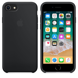 Apple Apple Silicone Case for iPhone (SE 2020)/8/7 - Black (While Supplies Last)