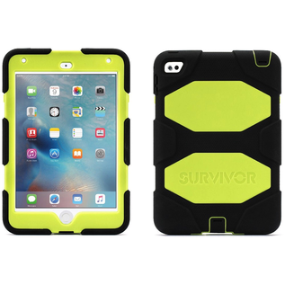 Griffin Griffin Survivor All-Terrain Case for iPad Mini 4 Denim/Fluoro Citron