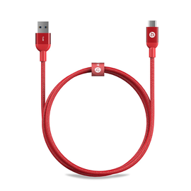 Adam Elements Adam Elements CASA M100 USB-C to USB3.0 Male Metallic Braided Cable 3.3ft (1m) Red WHILE SUPPLIES LAST