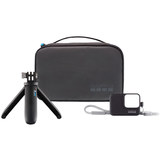 GoPro GoPro Travel Kit w/ Sleeve/Lanyard (All HERO7, HERO6/5 Black + HERO 2018) and Shorty (Mini Extension Pole + Tripod) for all GoPro cameras