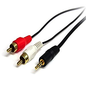 StarTech StarTech 6FT Stereo Audio Cable - 3.5mm Male to 2x RCA Male