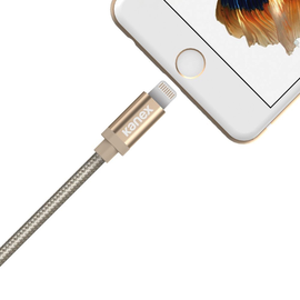 Kanex Kanex Premium DuraBraid Lightning ChargeSync Cable - 4 ft (1.2m) Gold