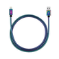 Candywirez Candywirez USB to Lightning Stainless Steel Cable 3ft Rainbow Chrome