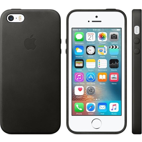 l'atteggiamento migliore b92b7 74c81 Apple Apple Leather Case for iPhone SE/5s/5 - Black - Cayman ...