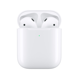 Apple Apple Airpods (Gen 2) with Wireless Charging Case (Compatible with iOS 12.2 or later) (No returns once opened for In-Ear devices)