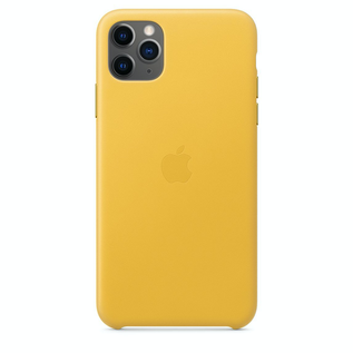 Apple Apple Leather Case for iPhone 11 Pro Max - Meyer Yellow (ATO)