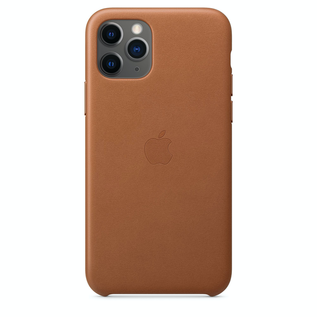 Apple Apple Leather Case for iPhone 11 Pro - Saddle Brown
