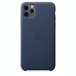 Apple Apple Leather Case for iPhone 11 Pro Max - Midnight Blue