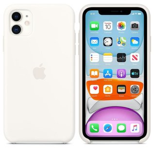 Apple Apple Silicone Case for iPhone 11 - White