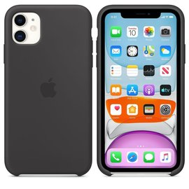 Apple Apple Silicone Case for iPhone 11 - Black