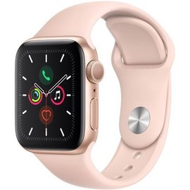 Apple Apple Watch Series 5 (GPS), 40mm Gold Aluminum Case with Pink Sand Sport Band
