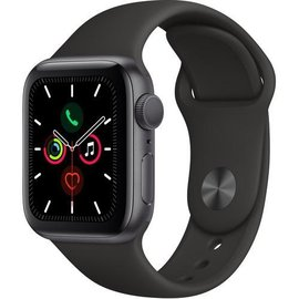 Apple Apple Watch Series 5 (GPS), 40mm Space Gray Aluminum Case with Black Sport Band