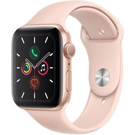 Apple Apple Watch Series 5 (GPS), 44mm Gold Aluminum Case with Pink Sand Sport Band