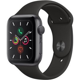 Apple Apple Watch Series 5 (GPS), 44mm Space Gray Aluminum Case with Black Sport Band - Might not be in stock - Backorders allowed
