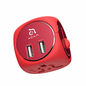 Adam Elements Adam Elements OMNIA TA502 travel adapter with Dual USB Red