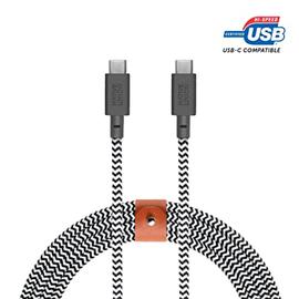 Native Union Native Union Braided USB-C to C Belt Cable, 2.4m (8ft) - Zebra