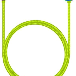 Candywirez Candywirez USB to Lightning Stainless Steel Cable 3ft Neon Yellow