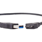 """Newer Tech 3.0 A to Micro B (10 pin Superspeed) Cable - M/M 18"""" for older external hard drives"""