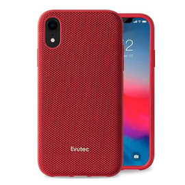 Evutec Evutec AERGO Ballistic Nylon Case w/Vent Mount iPhone XR Red