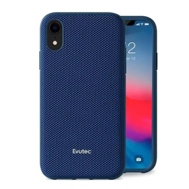 Evutec Evutec AERGO Ballistic Nylon Case w/Vent Mount iPhone XR Blue