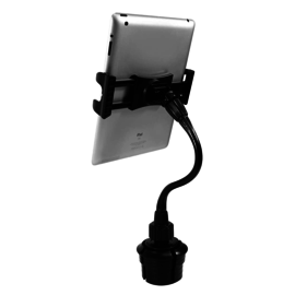 Macally Macally 1Ft. Super Long Adjustable Car Cup Mount iPad/Tablet/iPhone Holder