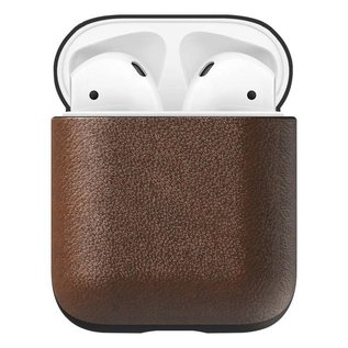 NOMAD NOMAD Rugged Leather Case for Apple Airpods 1st/2nd gen Rustic Brown (NOT COMPATIBLE WITH AIRPODS PRO)