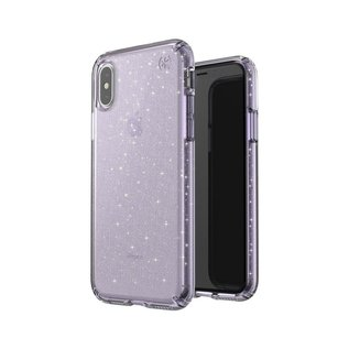 Speck Speck Presidio Clear + Gliiter Case for iPhone Xs/X Geode Purple/Gold Glitter (While Supplies Last)