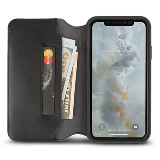 Moshi Moshi Overture Wallet Case for iPhone Xs Max Charcoal Black