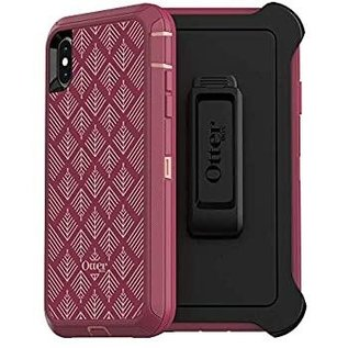 OtterBox Otterbox Defender Series Screenless Edition Case for iPhone Xs Max - Happa Silver/Pink/Red Plum WHILE SUPPLIES LAST