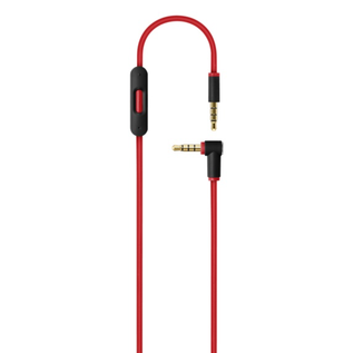 Beats Beats RemoteTalk Audio Cable for Apple iOS devices w/Mic- Red