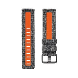 Fitbit Fitbit Versa Family Accessory Woven Band Charcoal/Orange Small