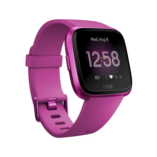 Fitbit Fitbit Versa Smart Fitness Watch Lite Edition Mulberry/Mulberry Aluminum