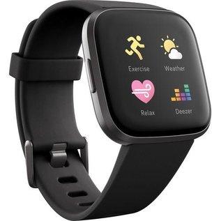 Fitbit Fitbit Versa 2 Fitness Smartwatch - Carbon Aluminum w/ Black Band