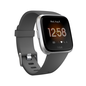 Fitbit Fitbit Versa Smart Fitness Watch Lite Edition Charcoal/Silver Aluminum