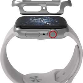 ZAGG ZAGG Invisible Shield Luxe Bumper for Apple Watch Series 4 44mm Silver