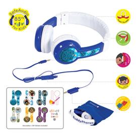 BuddyPhones BuddyPhones Explore Foldable Kids Wired On Ear Headphones Blue